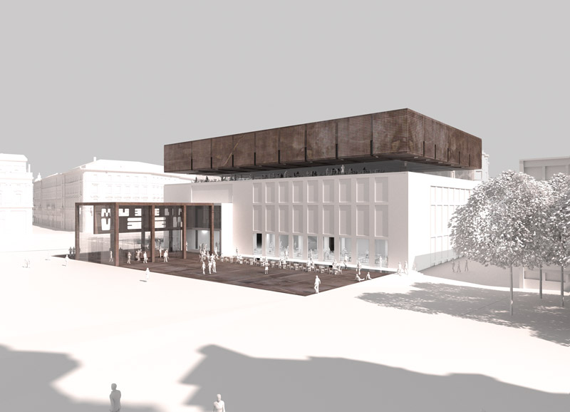 neugestaltung des neuen wien museums architektur online architektur online. Black Bedroom Furniture Sets. Home Design Ideas