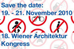 SAVE THE DATE: 18. Wiener Architektur Kongress