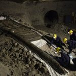 Großraumvitrine für die älteste Holztreppe Europas
