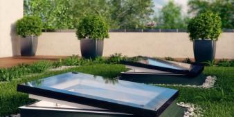 Neue Fenster für flache Dächer