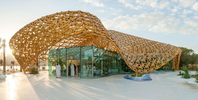 butterfly pavillon noor island architektur online