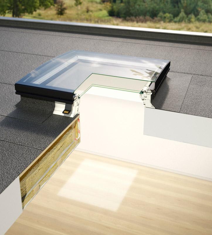 Dachfenster-Querschnitt