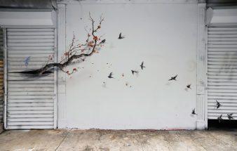 Wenn Bäume aus der Wand wachsen – Künstler Pejac
