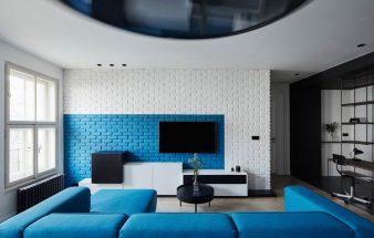 Alte Wohnung mit neuen Materialien