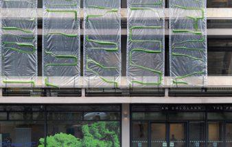 Algenfassade in der Großstadt