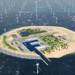 Energieinsel – Windfarm im Wasser