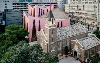 Rosa Kieselsteine – Kirche in Fuzhou