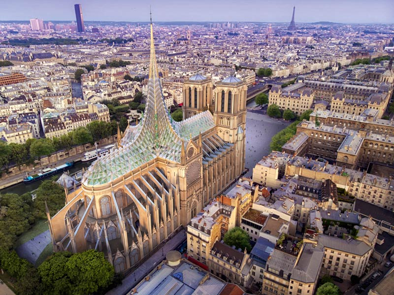 Kirche Paris Rendering