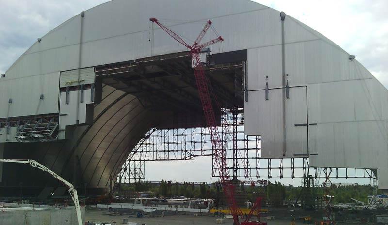 Atomruine Schutzhülle Tschernobyl