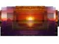 """Die Arbeit """"Dawn"""" von Laura Wagner für die Ausstellung """"random thoughts of a daily light"""" im Kunstverein das weisse haus."""