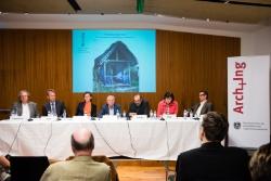 Am Podium (v.l.n.r.): Martin Treberspurg, Wolfgang Liebl, Margit Appel,