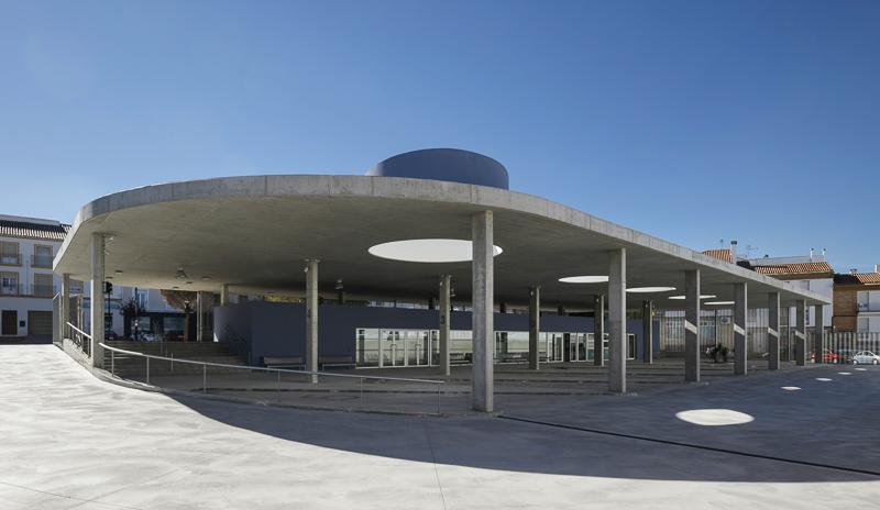 Estepa Busstation Spanien