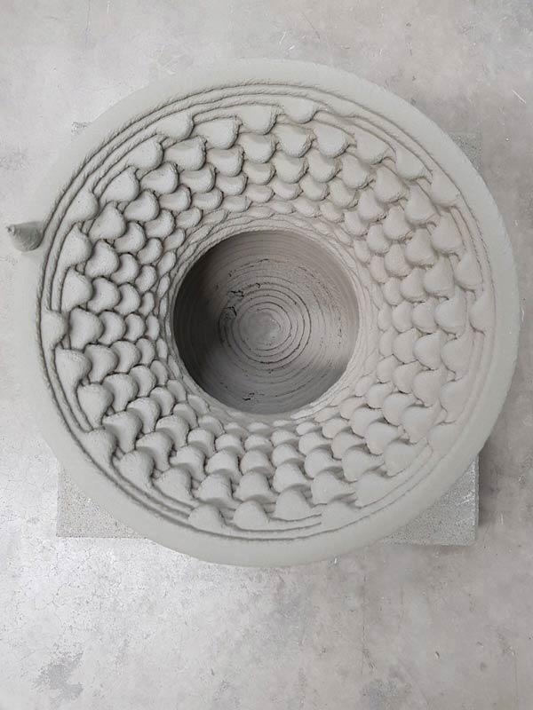 3d beton rosette