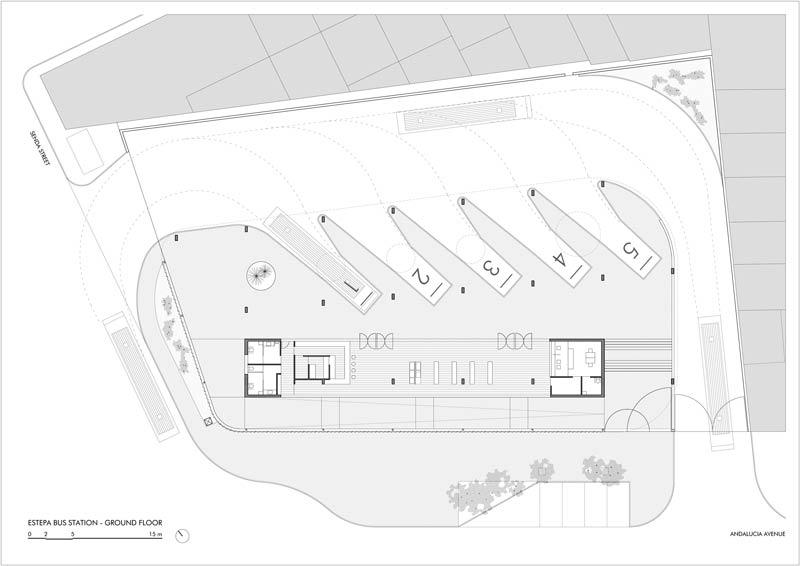 Bauplan estepa busstation