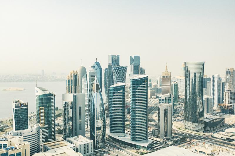 Dubai Doha Skyline