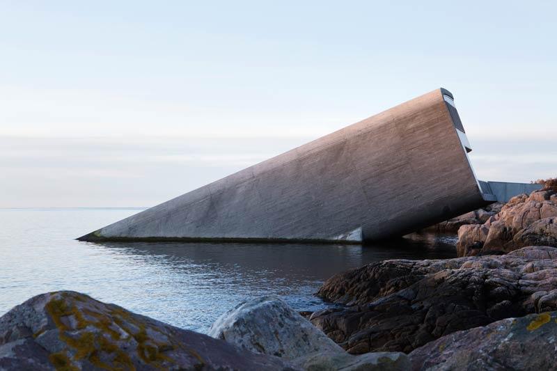 Lindesnes Norwegen Unterwasserrestaurant