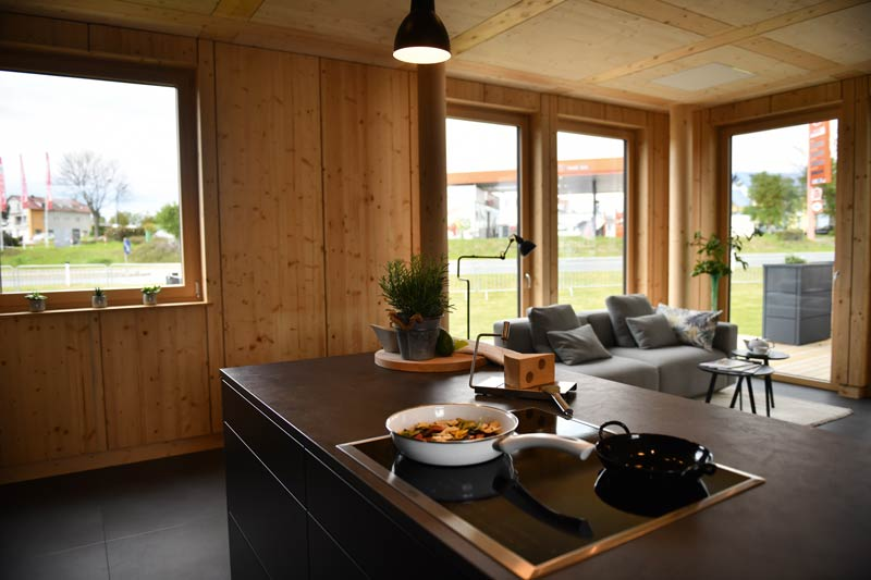 Modulform Holz Haus Plug In