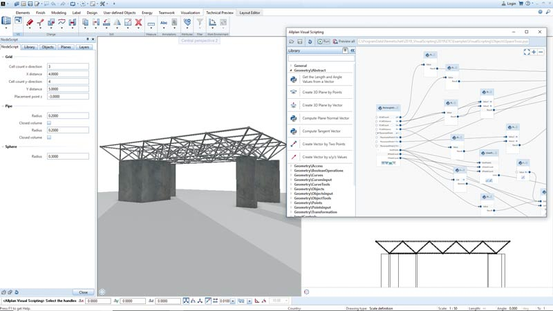 Bau-CAD Allplan_Visual-Scripting_Technical-Preview_Allplan-2019-1