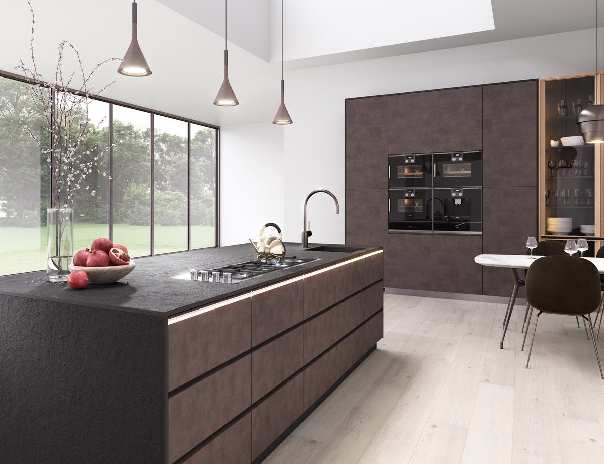 Designerküche mit FunderMax Arbeitsplatten