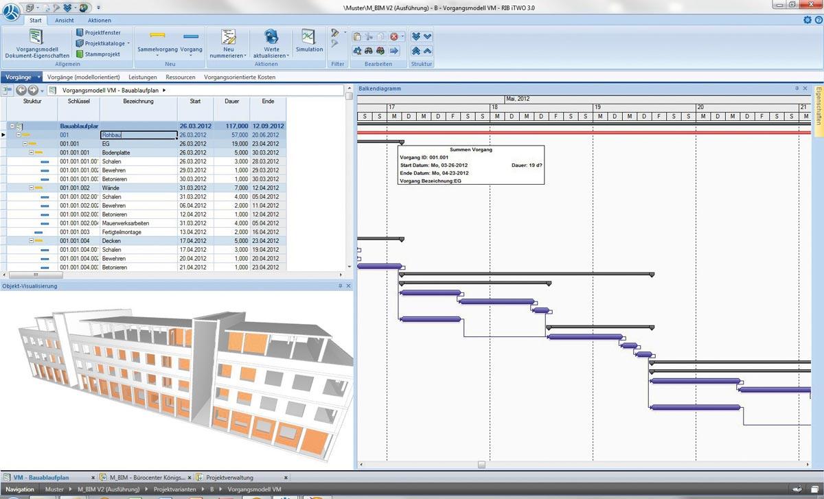 4D- und 5D-BIM - interaktive Visualisierungen des Baufortschritts