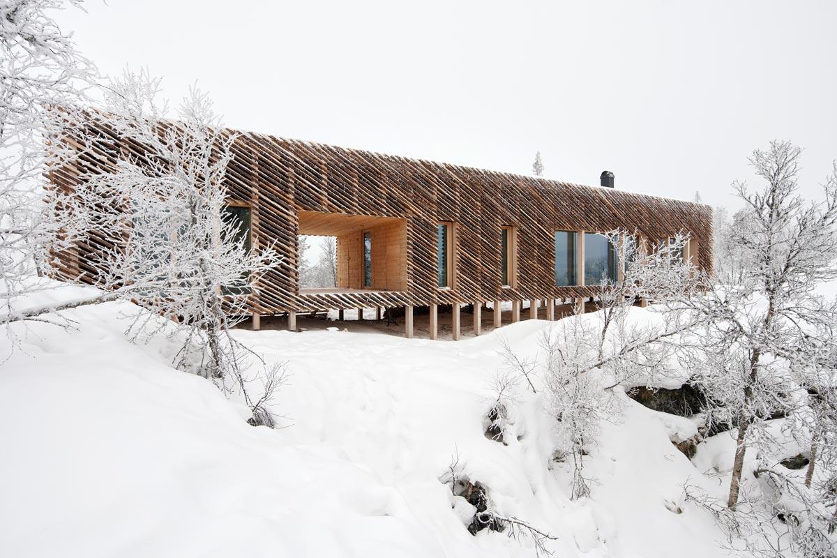 Skigard Berghütte - Kvitfjell Resort, Fåvang, Norwegen - Mork-Ulnes Architects