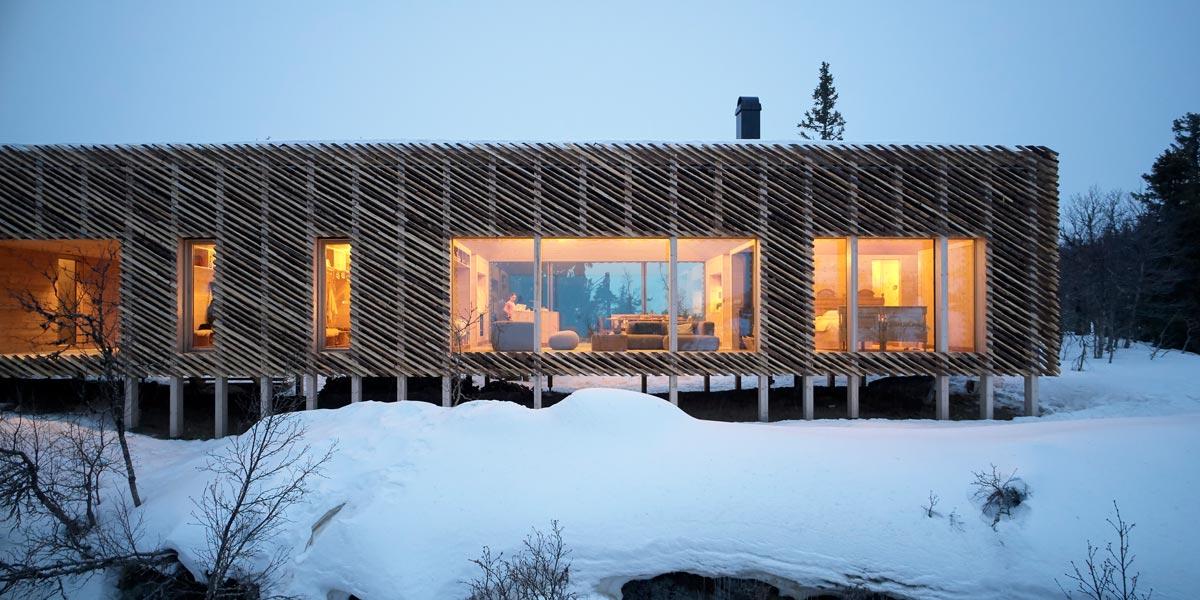 Skigard Hytte - Kvitfjell Resort, Fåvang, Norwegen - Mork-Ulnes Architects