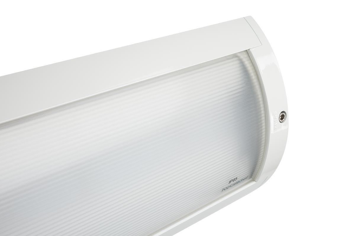 Das SURVIVOR Lichtsystem erreicht die Schutzart IP65 und Schlagfestigkeit IK10 und ist für alle Bereiche geeignet, in denen generell raue Umgebungsbedingungen herrschen und auch im Extremfall eine funktionierende Beleuchtung sichergestellt werden muss.