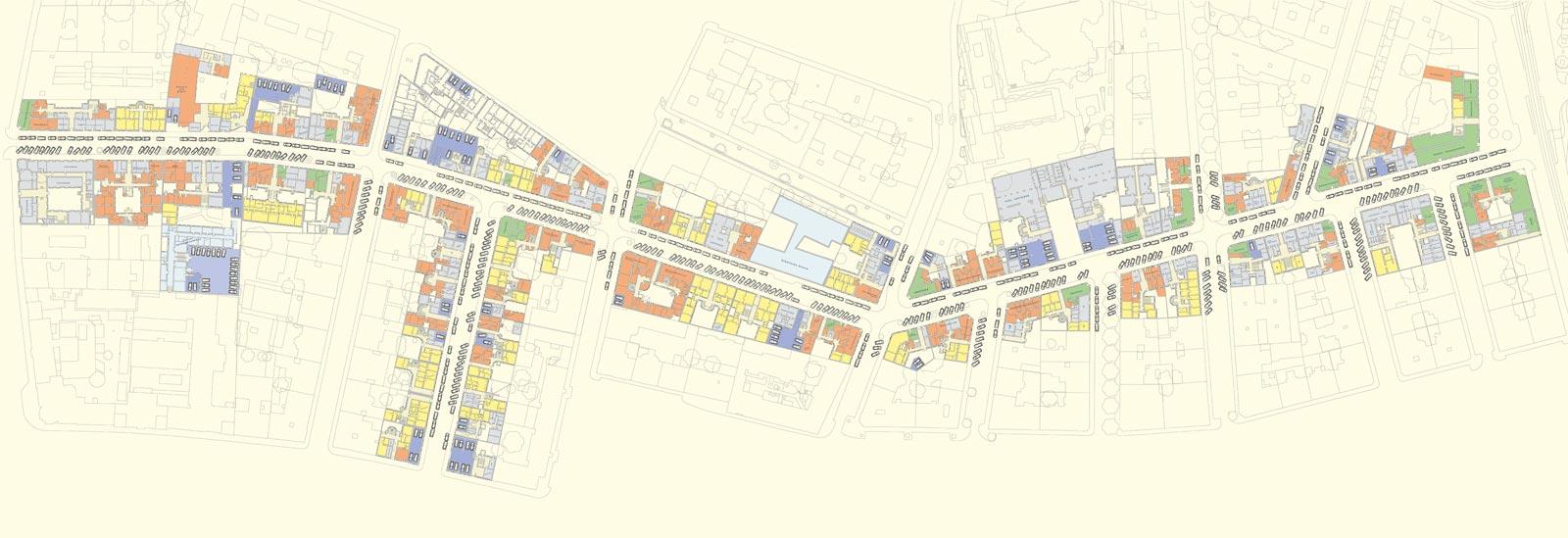 Nutzungsstrukturplan: Untersucht werden von Angelika Psenner unter anderem auch Nutzungsstrukturen von Erdgeschosszonen.