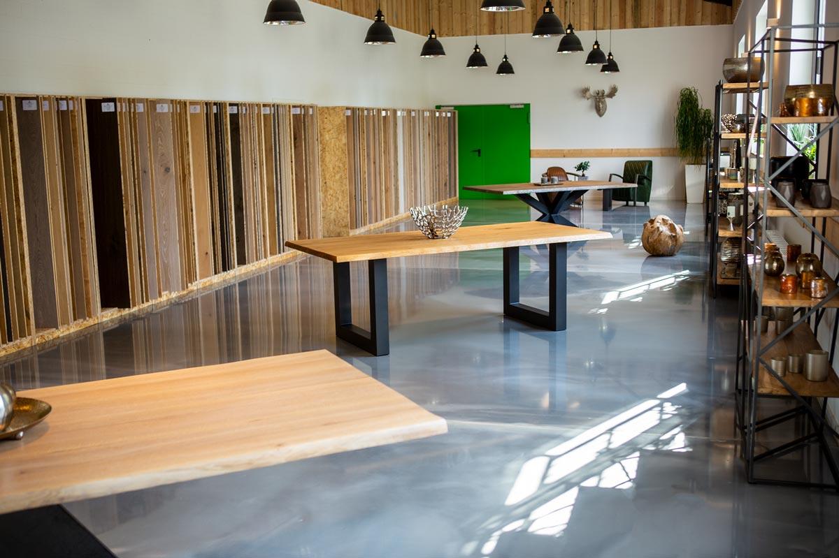 Bodenständig Parkett Köln,  Bodenbeschichtung im Metallic Design von Murexin