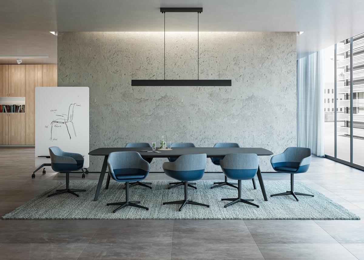 Mit ray table flex vom Designerduo jehs+laub präsentiert Selmer eine Weiterentwicklung der erfolgreichen Konferenztisch-Serie.
