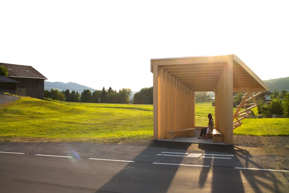 Architektur im Bregenzerwald - BUS:STOP Krumbach Glatzegg