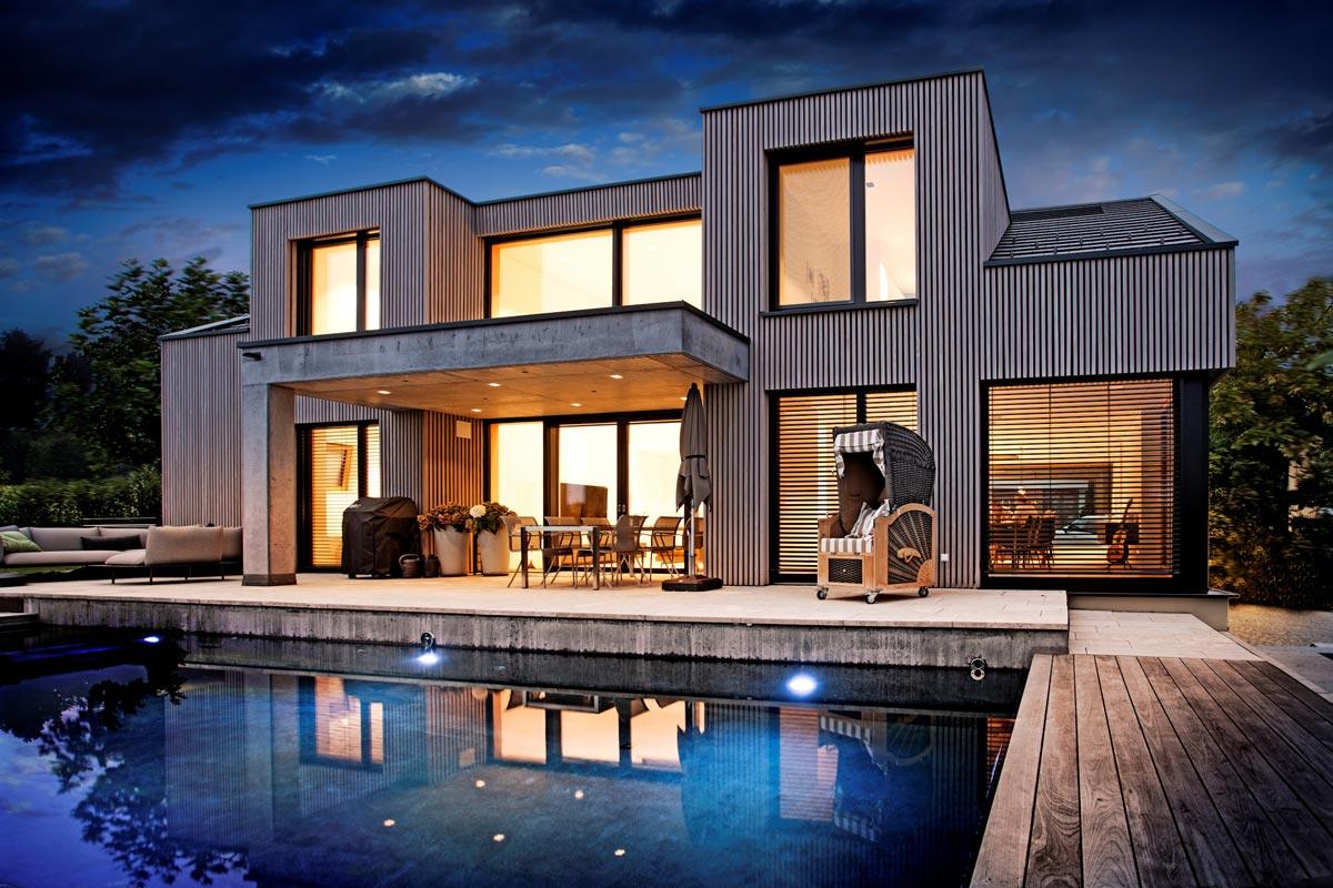 Kneer-Südfenster - Aluminium Holz Fenster mit flächenbündigem Design