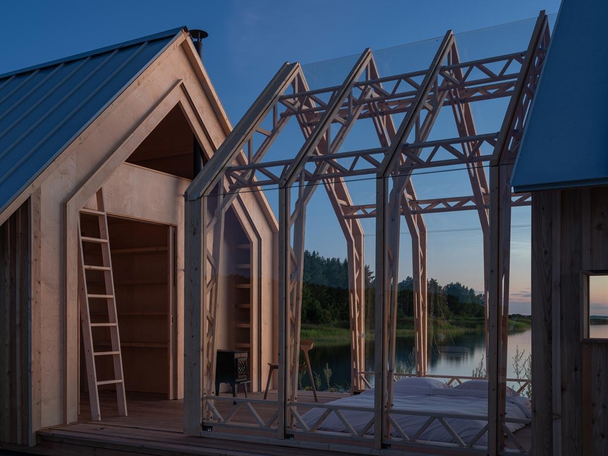Hinter Cabin ANNA von Caspar Schols versteckt sich ein Mini-Haus, das sich flexibel an verschiedenste Setups anpasst.